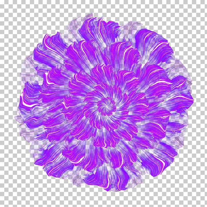 Purple Flower Thumbnail, Hand.