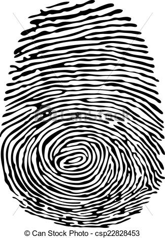 Clipart Vector of Thumb Print.