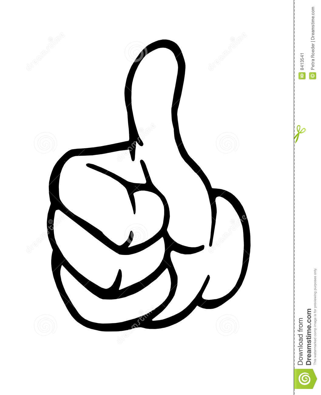 Two Thumbs Clipart.