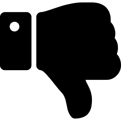 Thumbs down silhouette Icons.