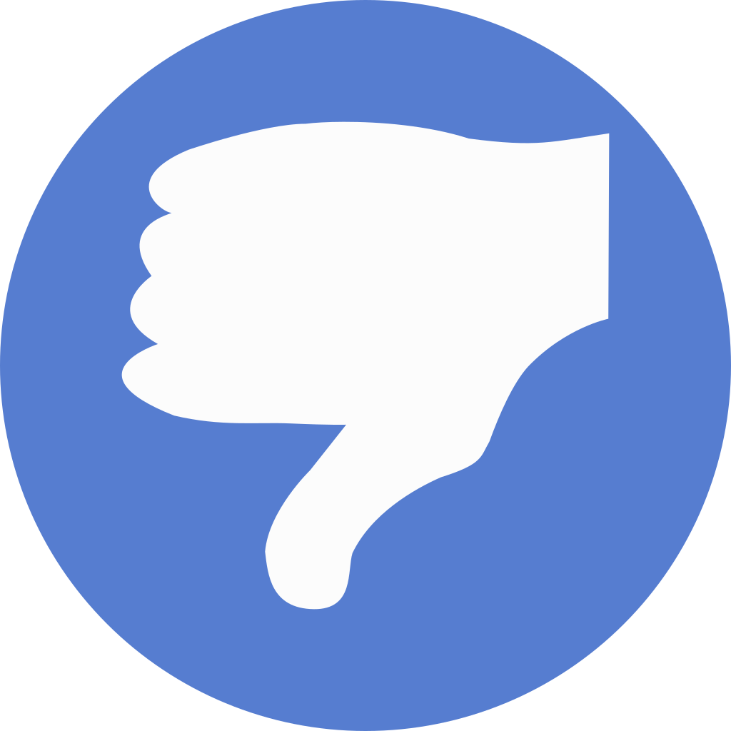 Election Thumbs Down Icon.