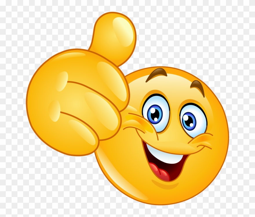 Smiley Face Thumbs Up Clipart (#1103968).