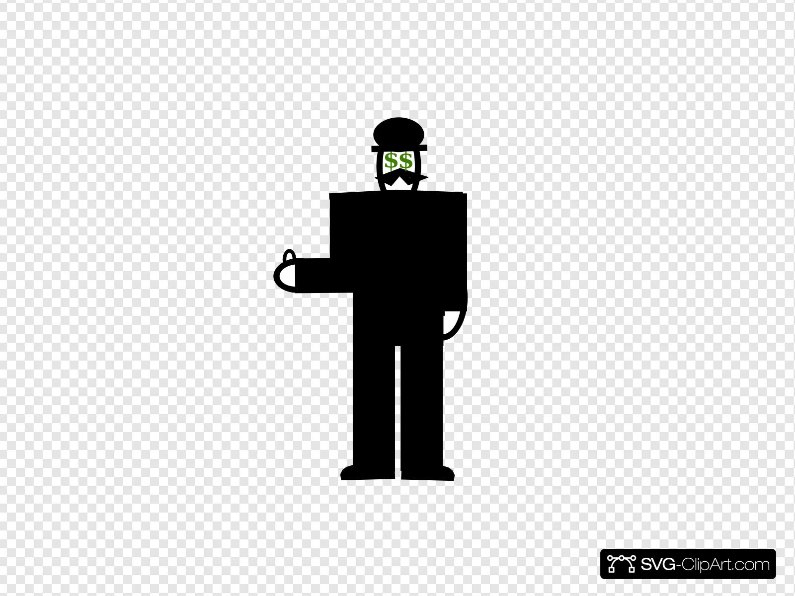 Man Thumbs Up Money Clip art, Icon and SVG.