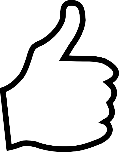 White Thumbs Up Clip Art at Clker.com.