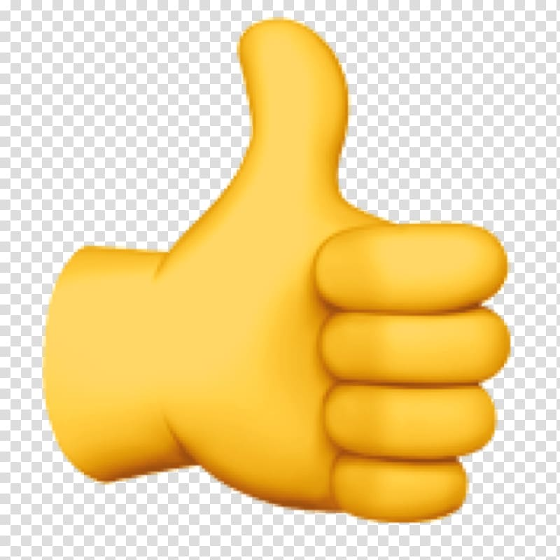 Thumbs up sign illustration, Thumb signal Emoji domain.