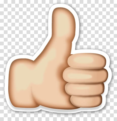 Thumbs up logo, Emoji Thumb transparent background PNG.