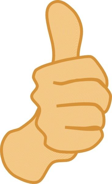Thumbs Up clip art Free vector in Open office drawing svg.