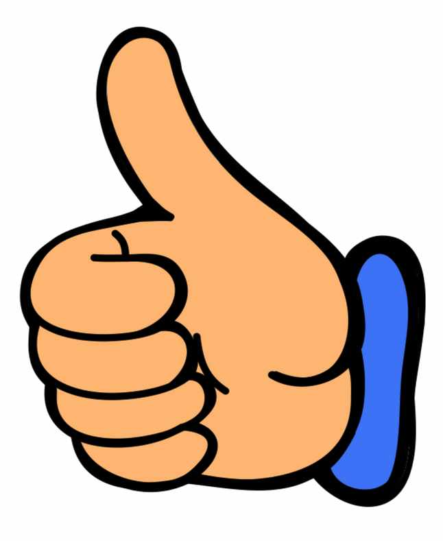 Free Thumbs Up Clipart.