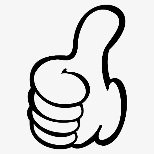 Tilted Thumbs Up, Black Finger, Motivate Others, Cartoon PNG.