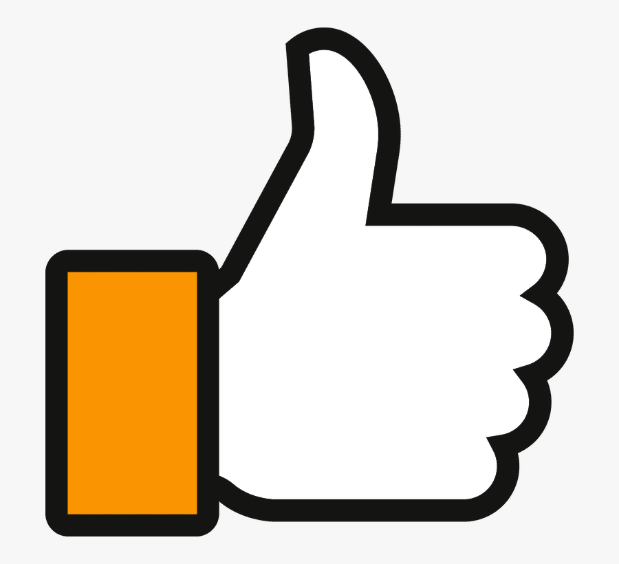 Facebook Thumbs Up Clipart Thumb Signal Like Button.