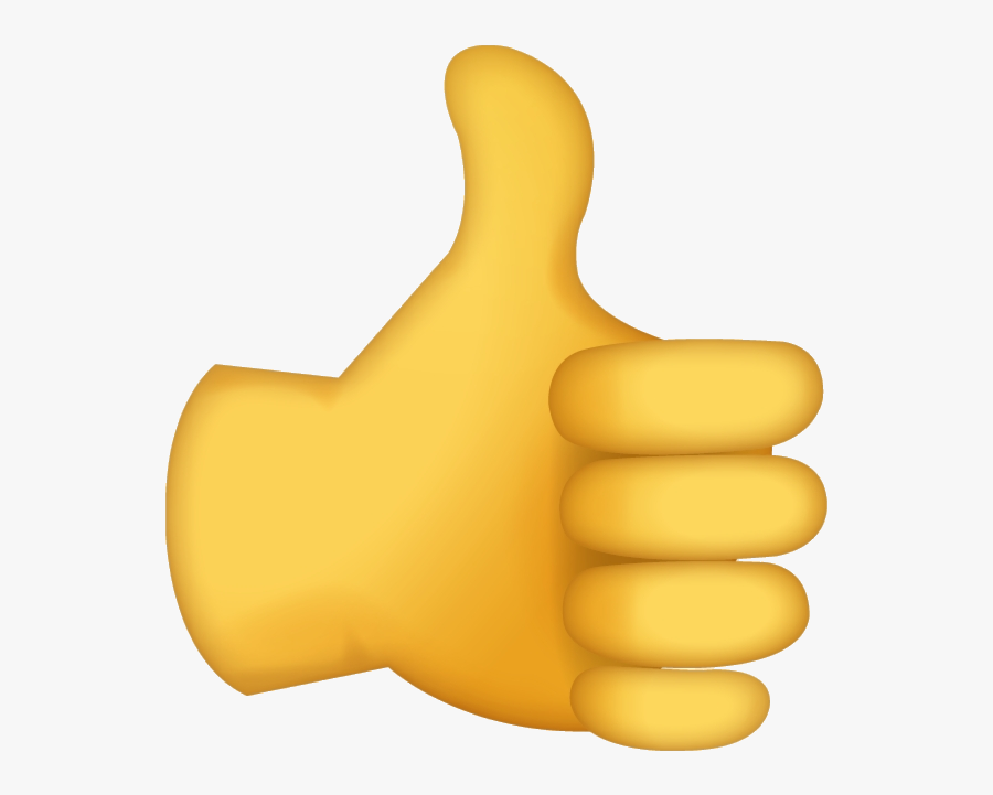 Thumbs Up Emoji No Background , Free Transparent Clipart.