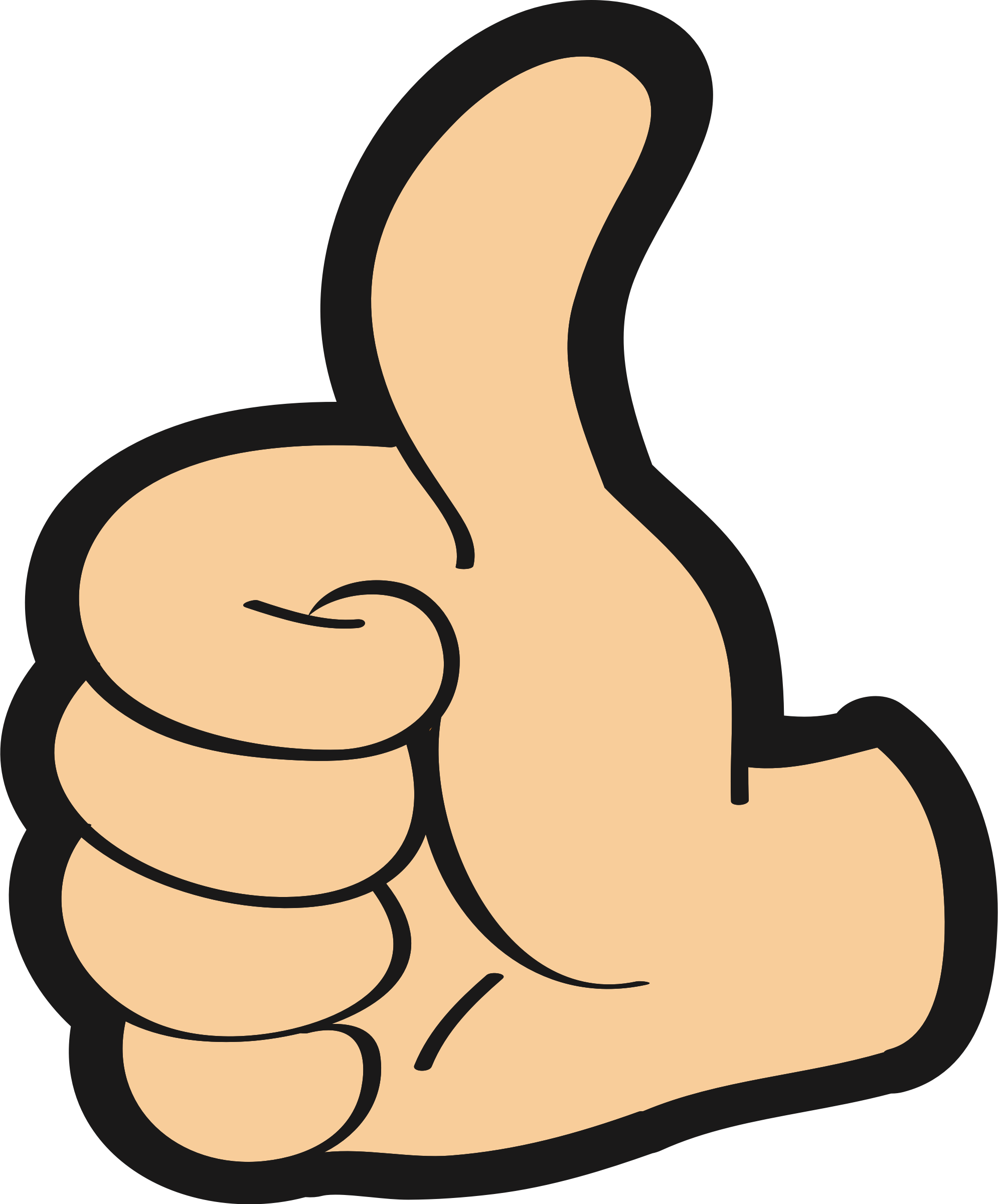 HD Thumbs Up Clipart Transparent Transparent Background.