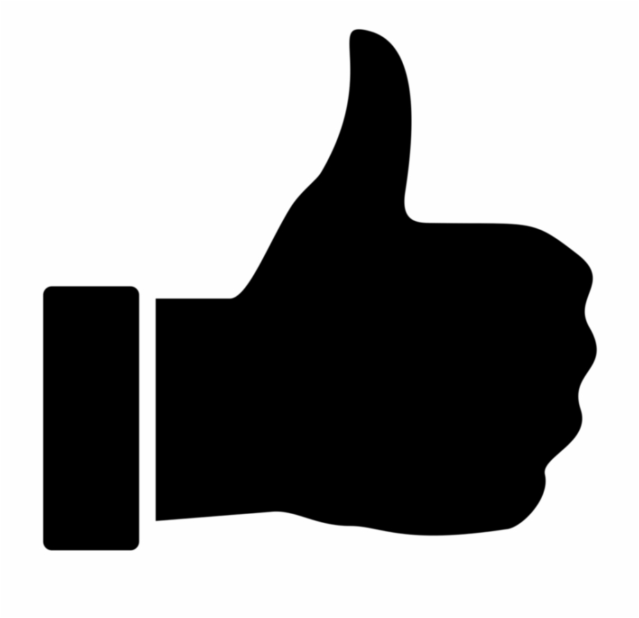 Black Thumbs Up Icon.