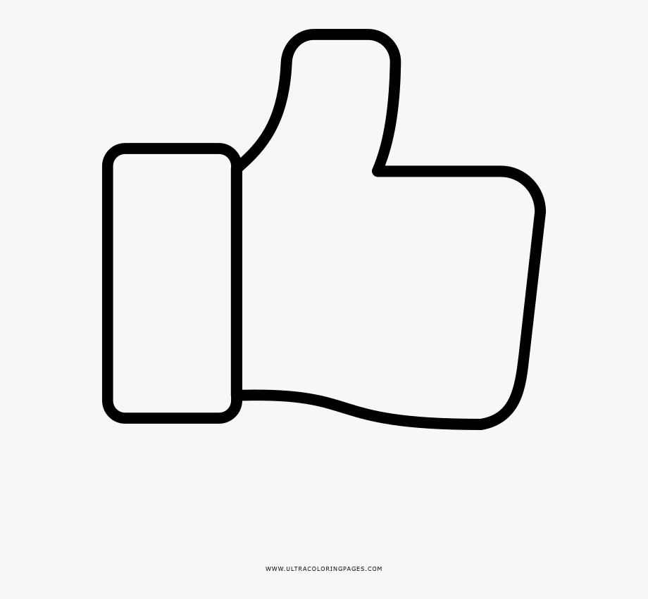 Thumbs Up Coloring Page.