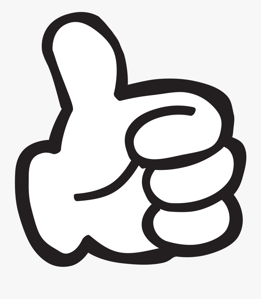 Mickey Mouse Thumbs Up Transparent Clipart , Png Download.