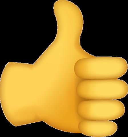 Thumbs Up Emoji [Free Download IOS Emojis].