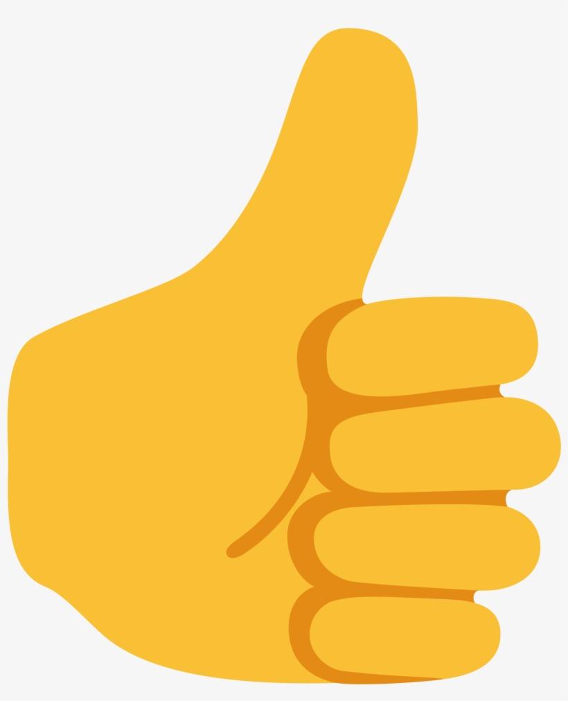 Google Thumbs Up Emoji Transparent PNG.