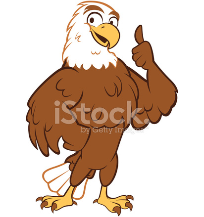 Eagle Thumbs UP Stock Vector.