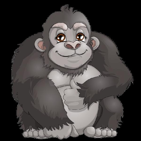 Happy clipart gorilla, Happy gorilla Transparent FREE for.