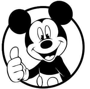 10033 Mickey Mouse free clipart.