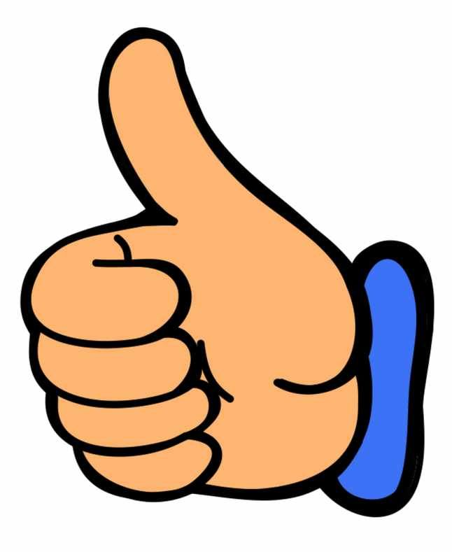 Smile thumbs up clip art clipart image 0.