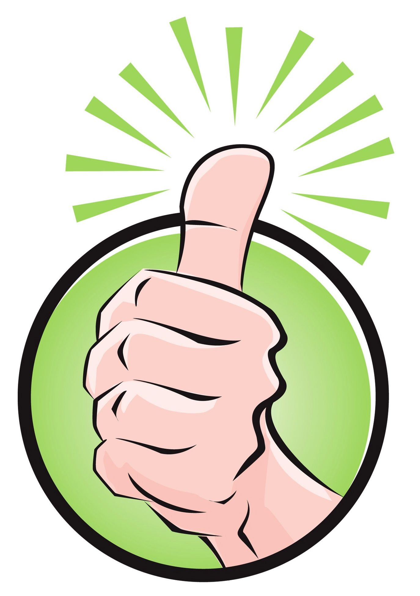 Thumbs up icon/logo.
