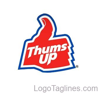 Thums Up Logo and Tagline.