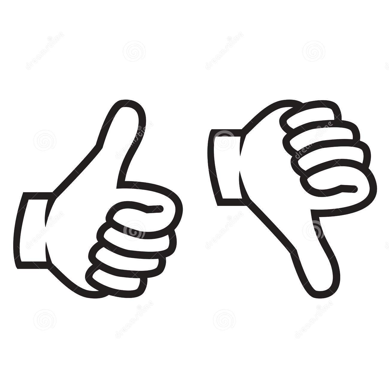 Thumbs up and down clipart 3 » Clipart Station.