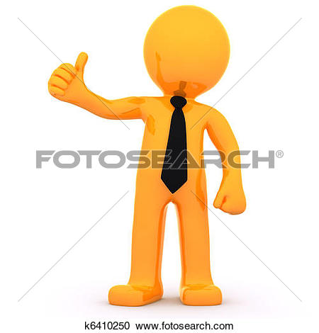 Drawings of Person showing thumbs up k13904434.