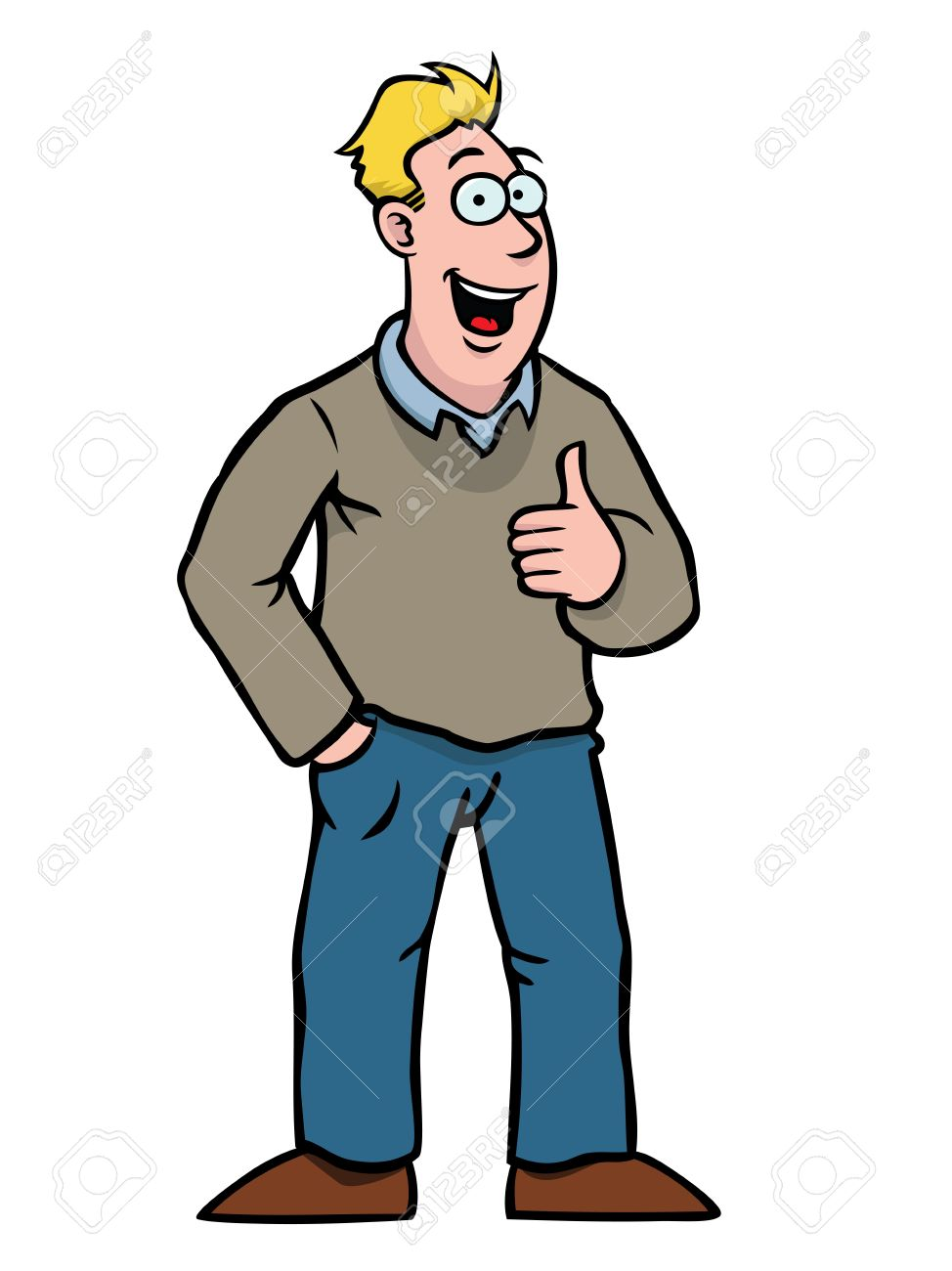 Man With Thumbs Up Royalty Free Cliparts, Vectors, And Stock.