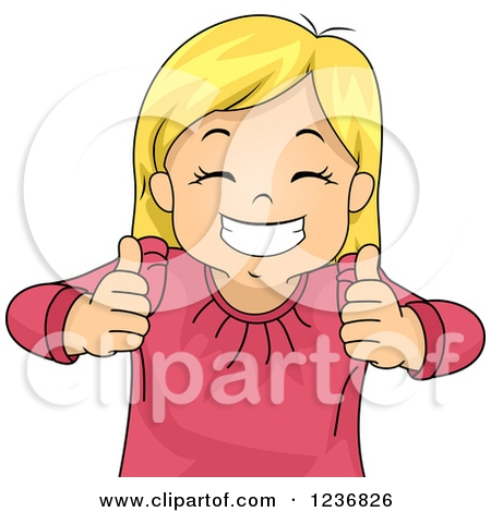 Person With Thumbs Up Clipart.