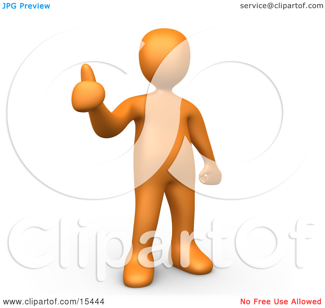 Thumbs up person clipart.