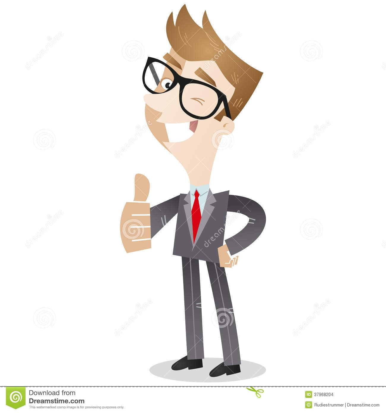 Man with thumbs up clipart.