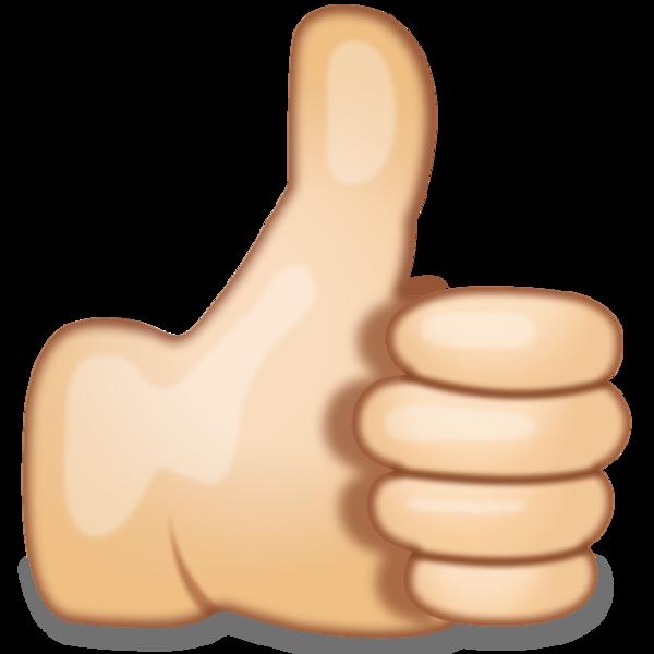 Thumbs Up Hand Sign Emoji.