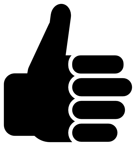 Symbol thumbs up clip art vector free clipart.