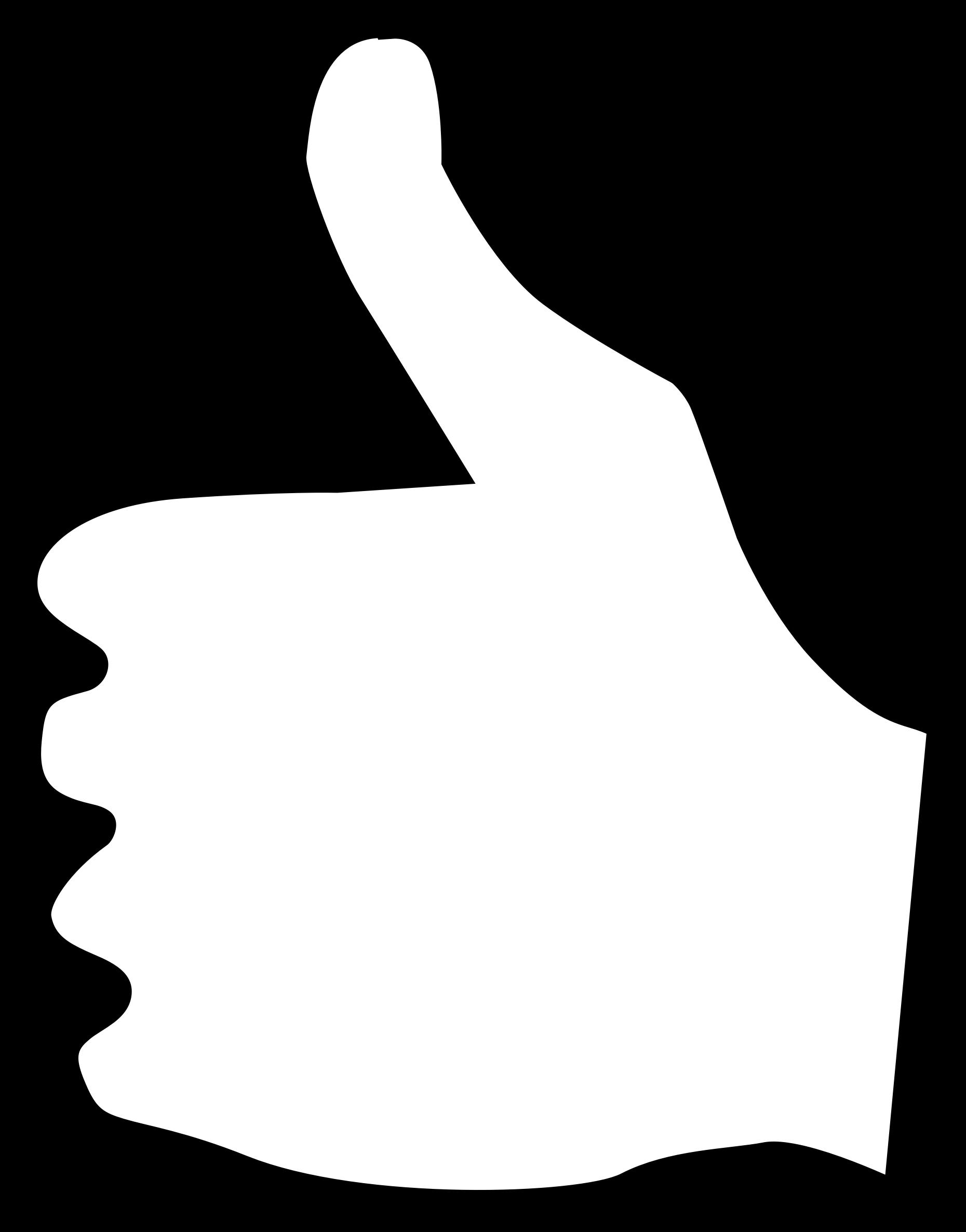 Thumbs Sideways Clipart.