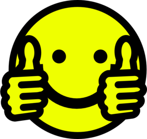 Clip Art Thumbs Up Smiley.
