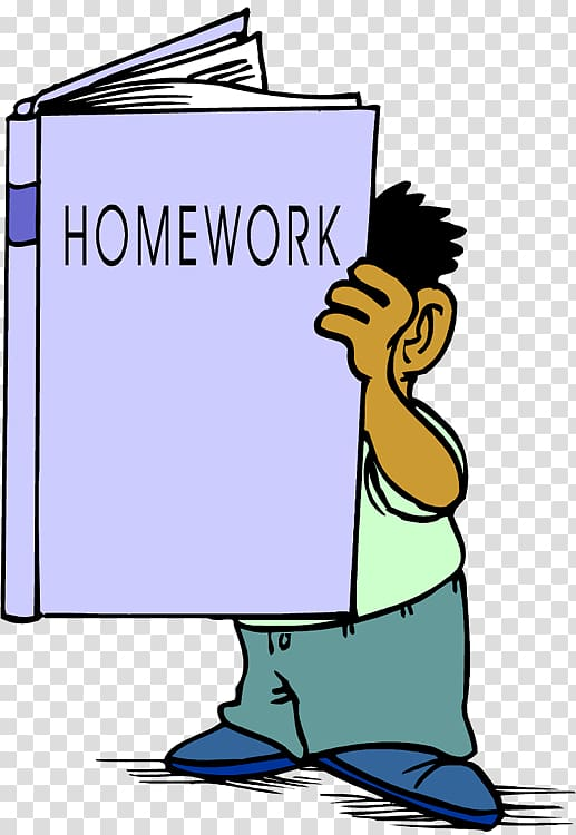 Homework Cartoon Student , student transparent background.
