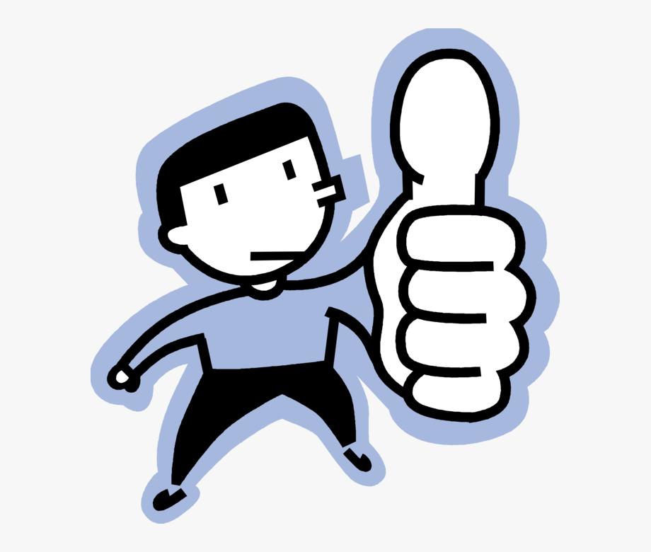 Thumb Vector Illustration.