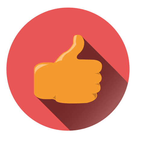 Thumbs up circle icon.