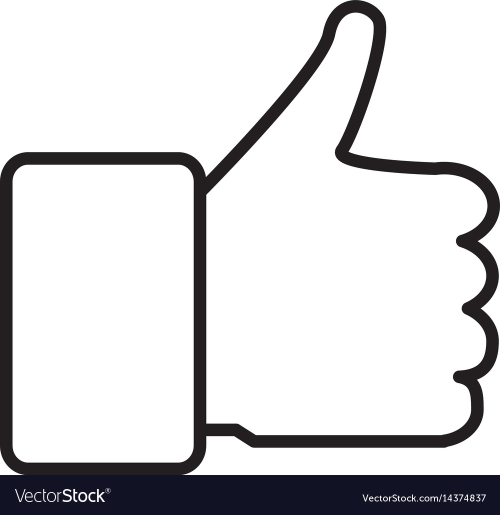 Thumb up icon isolated on white background thumb.