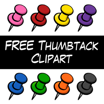 FREE Thumbtack Clip Art by Digital Classroom Clipart.