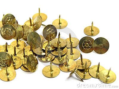 Thumbtacks Royalty Free Stock Photo.