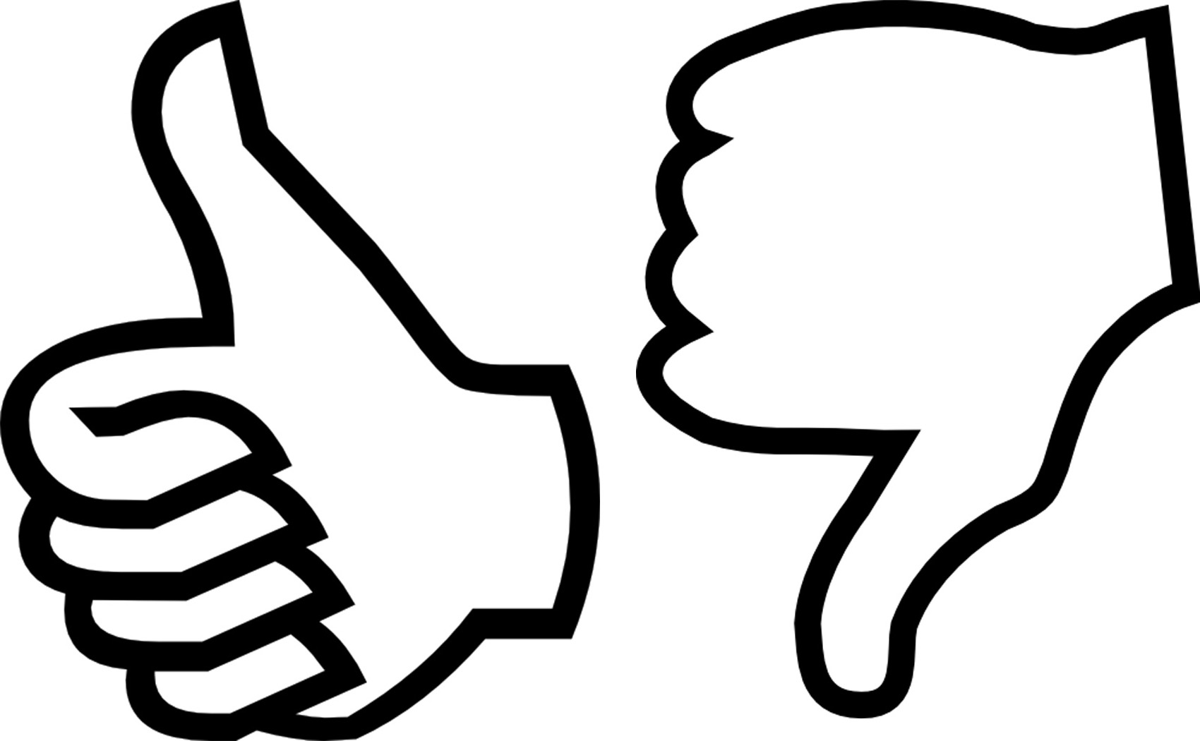Clipart thumbs up and down.
