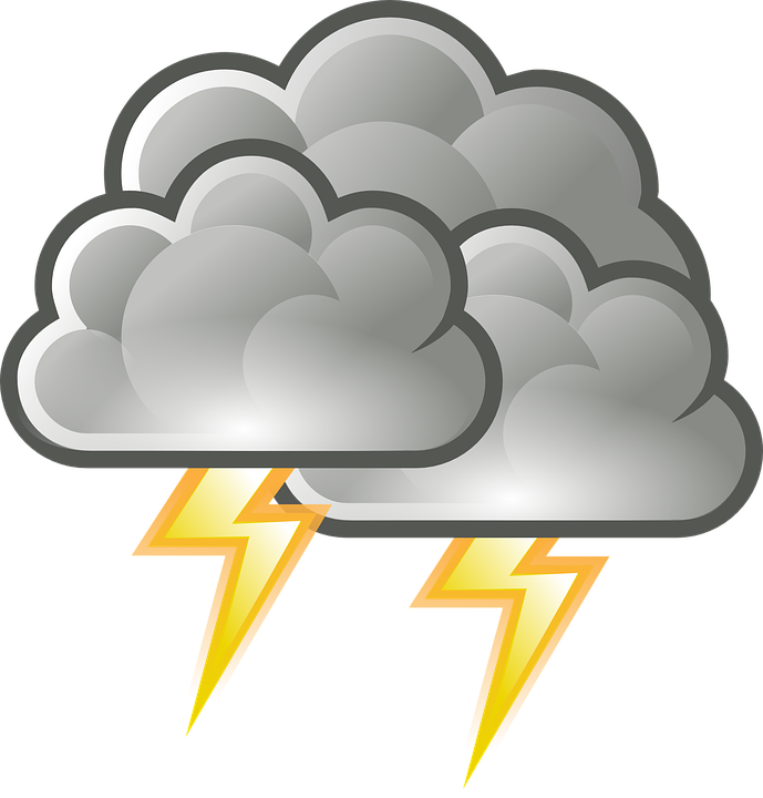 Thunder and lightning clipart 6 » Clipart Station.