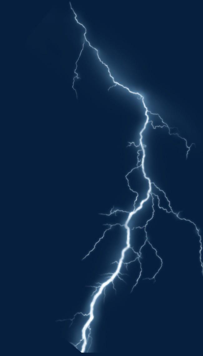 Vivid lightning thunder PNG clipart.