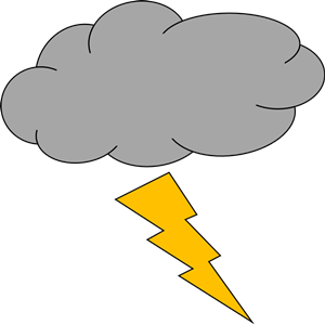 Thunder and lightning clipart, cliparts of Thunder and.