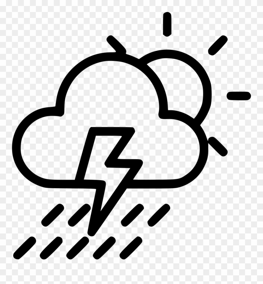 Thunder Clipart Cloudy.