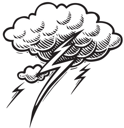 Stormy Clipart Black And White.