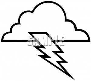 Thunder Clipart Black And White.